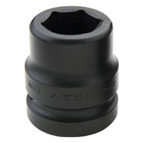 """Dado de impacto cuadrante 1"""", Standard métrico 19 a 115 mm 6 puntas GRAY TOOLS"""